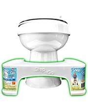 """Step and Go Toilet Stool 7"""" Proper Toilet Posture for Better and Healthier Results, 1 Kg"""