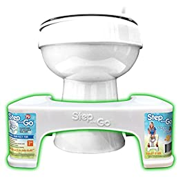 """Step and Go LLC Toilet Stool 7"""" New – Proper Toilet Posture for Better and Healthier Results"""