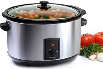 Elite Supreme MST-800V 8.5-Quart Stainless Steel Slow Cooker