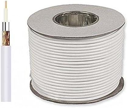Cable de antena coaxial sección 5 mm 100 mt. clase B: Amazon.es ...