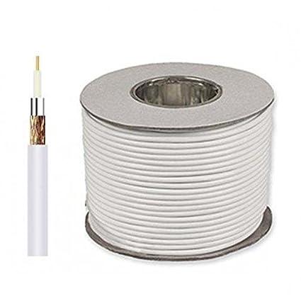 Cable de antena coaxial sección 5 mm 100 mt. clase B