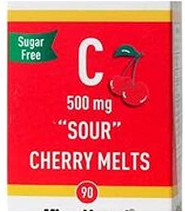 Superior Source Vitamin C 500 mg Sour Cherry Melts, 90 Count