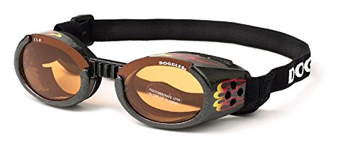Doggles - ILS Small Flames Frame / Orange Lens (DODGILSM-12) - by Doggles