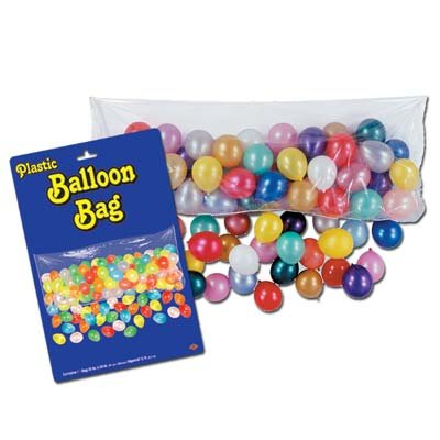Beistle Home Party Decoration Pkgd Plastic Balloon Bag Bag Only- Pack Of 12