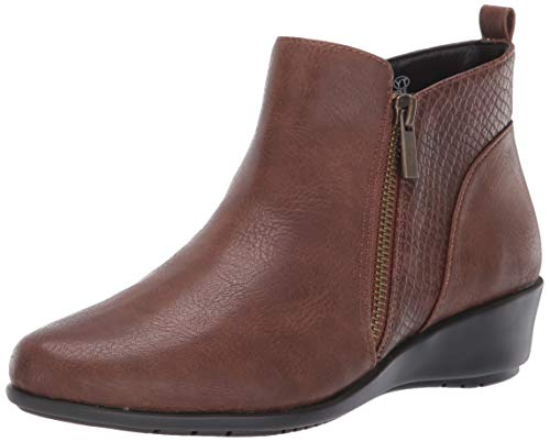 Aerosoles Women's All The Way Ankle Boot, Mid Brown Combo, 9 M US