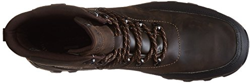 Rockport Mens Cold Springs Plus Mudguard Snow Boot- Dark Brown Leather