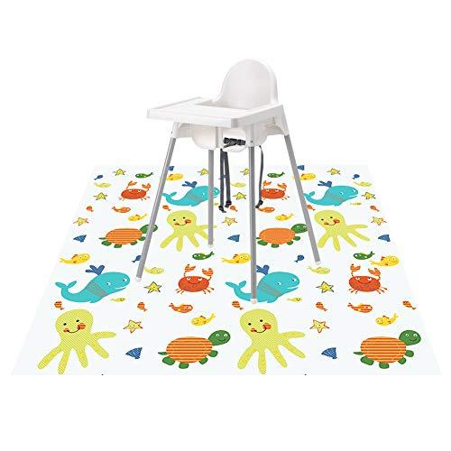 Splat Mat for Under High Chair/Arts/Crafts, Wo Baby Reusable