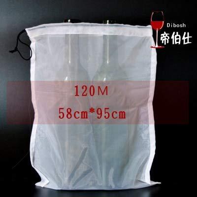 Wine Filter Bag Food Grade 120/200/300 Mesh Bag for Home Brewing Wine Making : 120 M Large