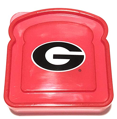 University of Georgia Bulldogs Lunch Box Sandwich Container