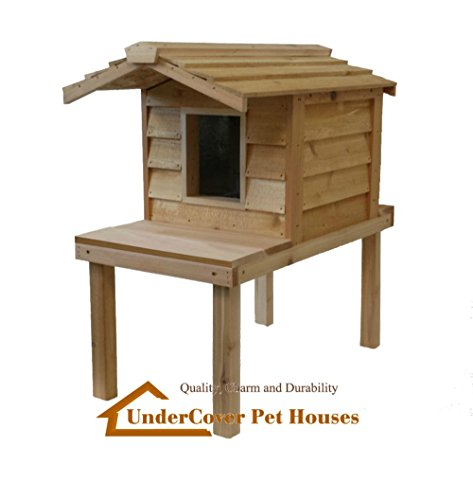insulated cedar cat house - 8