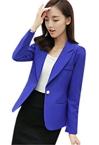 Automne Manches Bleu Chic Manteau V Blazer Jacket D'affaires Costume Ol Femme Longues Slim Col Jothin Élégant wZ0xTIn1Zq