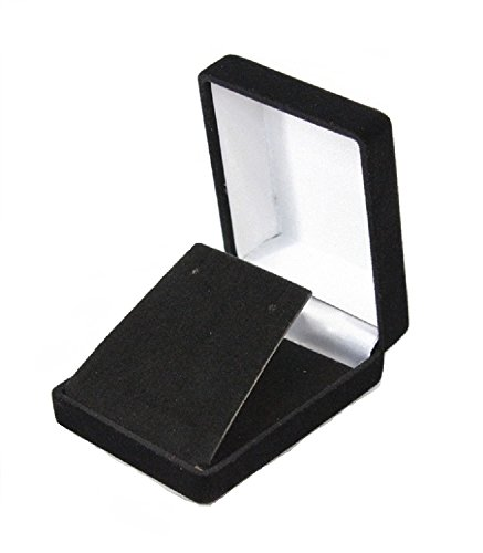 6 Necklace Pendant Gift Boxes Jewelry Displays (Black Velvet Flocked Jewelry Display)