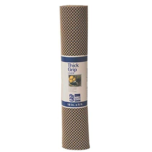 Magic Cover Thick Grip Liner For Drawer, Shelf, Counter Tops and Surface Setting - Taupe - ()