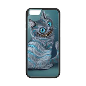 LeonardCustom Durable Protective Hard TPU Rubber Fitted Cover Case for iPhone 6 4.7 inch, Cheshire Cat
