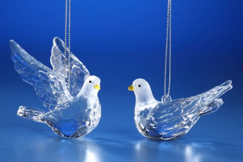 Icy Craft Dove Ornaments -