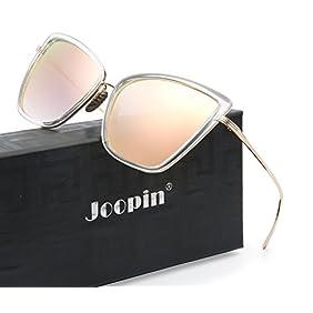 Joopin Fashion Cat Eye Sunglasses Women Retro Transparent Frame Brand Sun Glasses