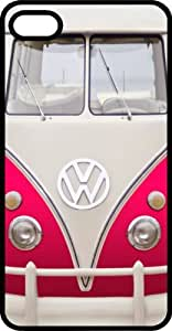 Classic Pink VW Bus Van Black Plastic Case for Apple iPhone 5 or iPhone 5s