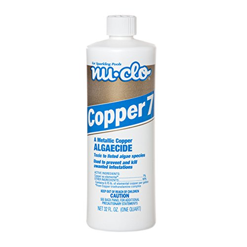 Nu-Clo Copper Algaecide 7 Quart for Swimming