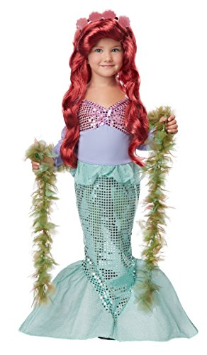 California Costumes Little Mermaid Toddler Costume & Seaweed Boa Bundle Costume, Green