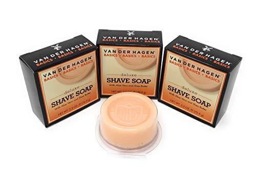 Van der Hagen Deluxe Shave Soap - 2.5 oz - 3 pk