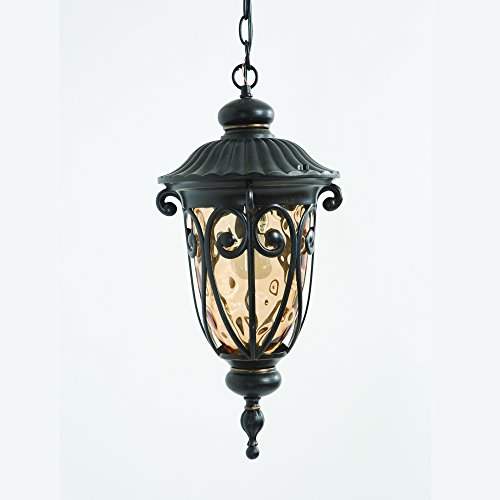 519MHIORB Viviana Collection Nine-Inch Incandescent Hanging 1-Light Exterior Light/20.5, Oil-Rubbed Bronze 68 Piece ()