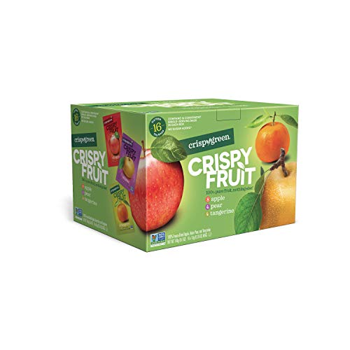 Snacks Fruit All Natural (Crispy Green Freeze-Dried Fruits, Non-GMO, Gluten Free, No Sugar Added, Fruit Variety Pack, 0.35 Ounce (16 Count))
