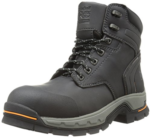 Timberland PRO Men's 6 Inch Stockdale Grip Max Alloy Toe Work and Hunt Boot, Black Microfiber, 10.5 W US