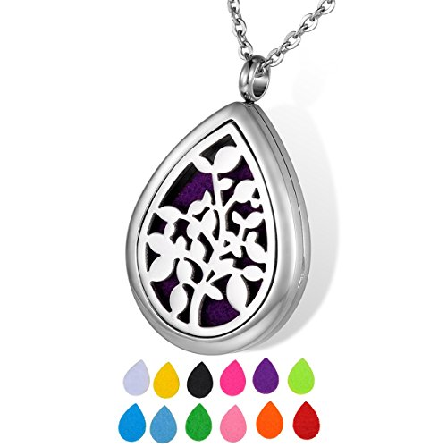HOUSWEETY Aromatherapy Essential Necklace Stainless Non engraving