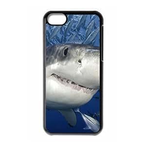 LZHCASE Diy Hard Shell Case Shark For Iphone 5C [Pattern-1]