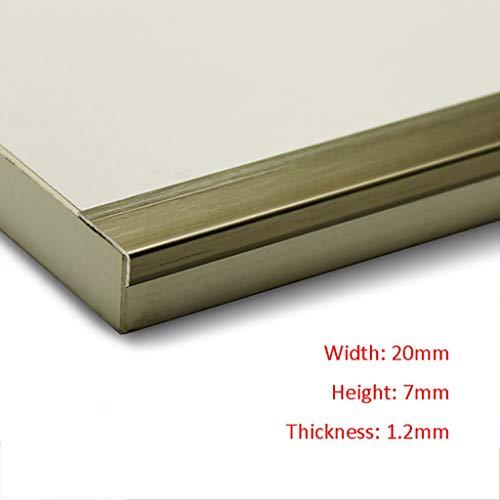 GWXFHT Threshold Strip L Type Wooden Floor Non-slip Right Angle Decorative Lines Pressure Edge Strip Wardrobe Bay Window…