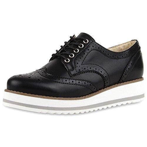 Japado - Zapatos de vestir brogues Mujer Negro - negro