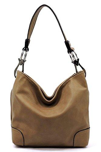 Bucket Shoulder Bag (Elphis Fashion Classic Shoulder Bag Hobo Bucket Handbag Purse (79-Tan))