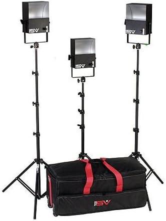 Smith-Victor SL300 3 600 Watt SoftLight Quartz Light Kit with Light Cart on Wheels Carrying Case.