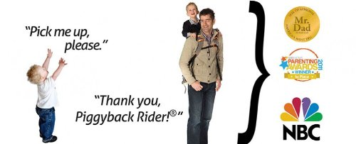 Piggyback Rider Standing Child Carrier - Deluxe Model