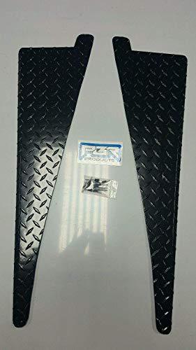(JEEP CJ7 CJ5 CJ8 Scrambler DIAMOND PLATE FENDER TOP COVERS 45° bend 1/2