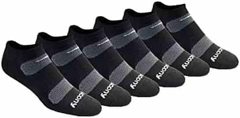 Saucony Men's Multi Pack Mesh Ventilating Performance Comfort Fit No-Show Socks