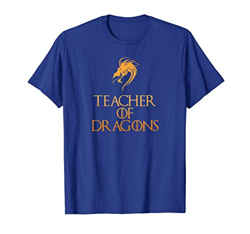Teacher Of Dragons T-Shirt Funny Halloween Costume Top -