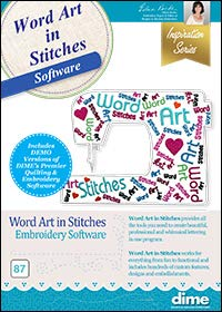 Designs in Machine Embroidery Word Art in Stitches Software (Design Words Embroidery)
