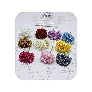 30 pcs/Bunch 4 cm Artificial Silk Flower Flowers Beads Garland Chrysanthemum Cherry Flower Brooch Decoration Material 75