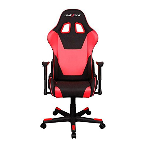 DXRacer OH/FD101/NR Black & Red Formula Series Gaming Chair Ergonomic High Backrest Office Computer Chair Esports Chair Swivel Tilt and Recline with Headrest and Lumbar Cushion + Warranty