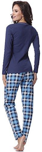 Italian Fashion IF Pijamas para mujer Aurelia 0223 Navy
