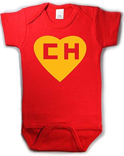 - Chapulin Colorado Chespirito Spanish Funny Baby Onepiece Bodysuit Gift Red (6-12 Months (Medium))
