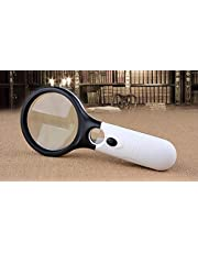 magnifying glass with LED lamp and 2 lens Guo magnification 10 fold and 20 fold item NO 442-1