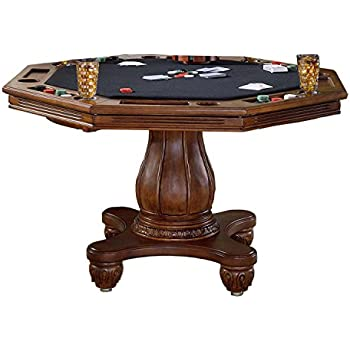 Hillsdale Furniture 6004GTB Kingston 57u0026quot; Game Table With Cup Holder  Carved Detailing And Molding