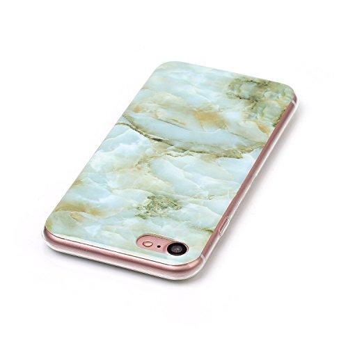 Apple IPhone 7 Fall Marmor Stein Muster Soft Case für Apple IPhone 7 IMD Hybrid Glossy TPU Soft Silicnone schützende Shell zurück Fall Deckung für Apple IPhone 7 ( Color : 3 )