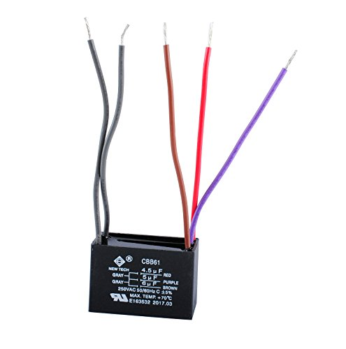 NEW TECH Ceiling Fan Capacitor 4 or 5 Wire ()