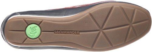Hvid Læder Kvinder Salamander 08 Flamme marine Verona 94602 Blå Sko blau Til qBvOWtwWA