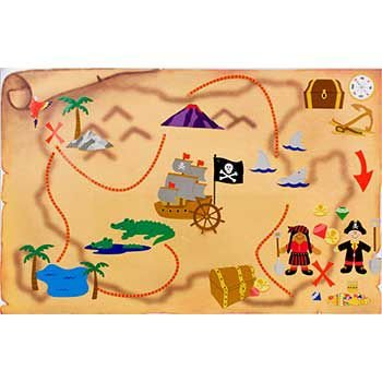 Pirate Treasure Map Activity Kit (12-pack) ()