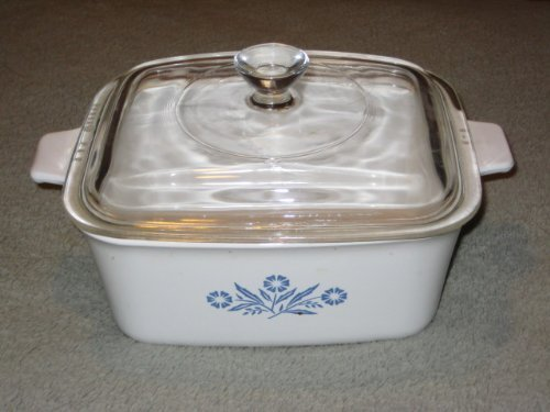 Vintage Corning Ware 1 1/2 Quart Cornflower Blue Rectangle Baking Dish Casserole w/ Lid - Made In USA P-4-B (Casserole Corelle Ceramic)