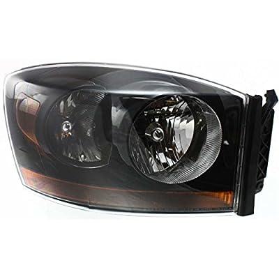 Diften 114-A1538-X01 - 06-08 Dodge Ram Truck Headlights Headlamps w/Black Bezel Left & Right Pair Set